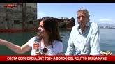 27/05/2016 - Costa Concordia, Sky TG24 a bordo del relitto