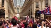 28/05/2016 - Milano, Colchoneros scatenati in Galleria