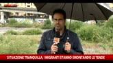 29/05/2016 - Ventimiglia, i migranti smontano le tende