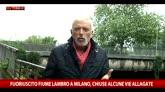 30/05/2016 - Fuoriuscito fiume Lambro a Milano, chiuse alcune vie