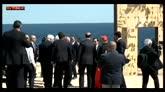 Lampedusa, Mattarella visita la  Porta d'Europa