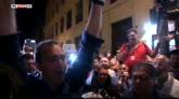 20/06/2016 - Ballottaggi Napoli, l'esultanza di De Magistris
