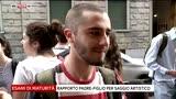22/06/2016 - Firenze, l'attesa dei maturandi prima di entrare in aula