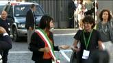 22/06/2016 - Roma, Virginia Raggi con la fascia tricolore