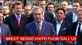 24/06/2016 - Brexit, Farage: sono entusiasta