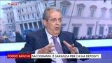 30/06/2016 - Fondo banche, Saccomanni: è garanzia per chi ha depositi