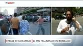 19/07/2016 - Palermo, 24 anni fa la mafia uccise Borsellino