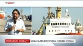 22/07/2016 - Migranti, nave Msf a Trapani dopo il recupero di 22 salme