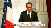 "22/07/2016 - Lotta all'Isis, Hollande: ""Forniremo artiglieria all'Iraq"""