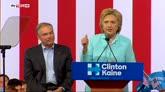 23/07/2016 - Usa 2016, a Miami Hillary Clinton presenta il vice Tim Kaine