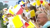 27/07/2016 - Cracovia, primo giorno del Papa alla Giornata Gioventù