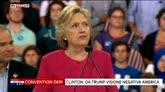 """29/07/2016 - Hillary Clinton: """"Da Trumpo visione negativa America"""""""