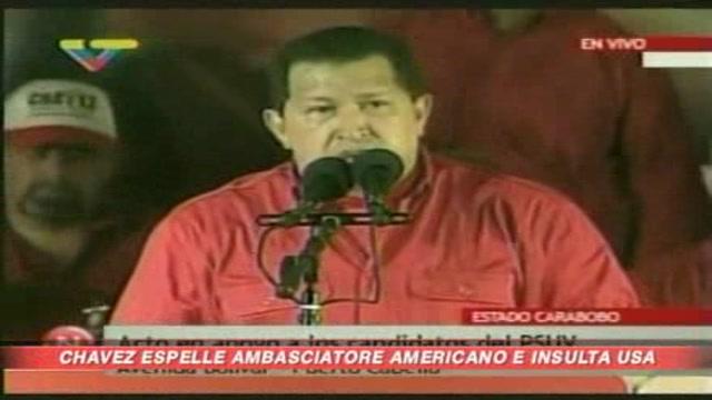 Venezuela, Chavez espelle l'ambasciatore Usa