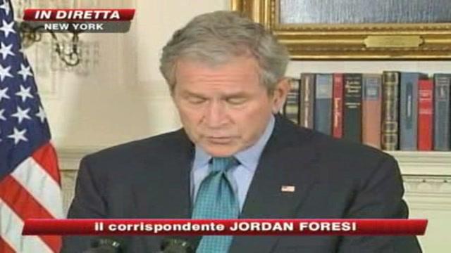 Crisi Usa, nuovo appello di Bush al Congresso: Bisogna agire