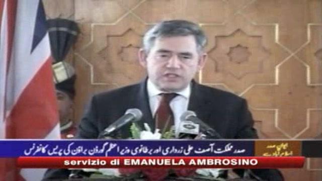 Pakistan, Brown: 7 mln di euro per combattere il terrorismo