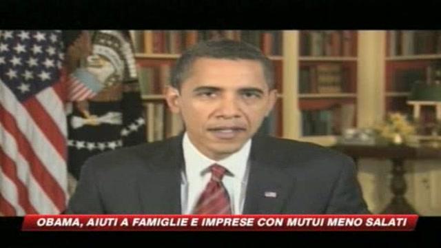 Obama annuncia riduzione del costo dei mutui