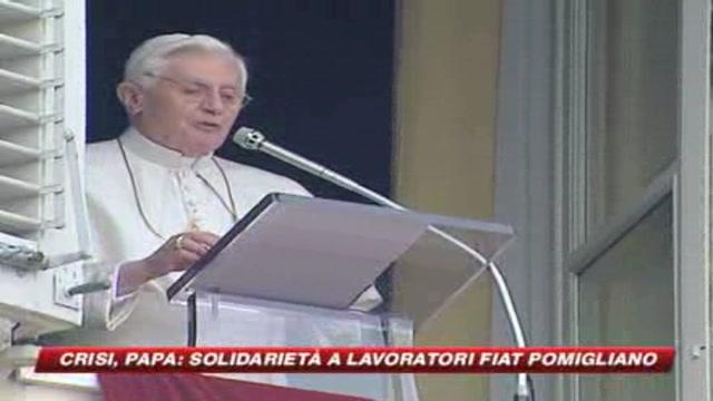 Il Papa sta con gli operai: tutelare loro e le famiglie