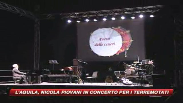 Nicola Piovani suona per i terremotati
