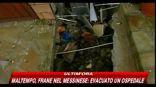 Maltempo, frane nel messinese: evacuato un ospedale