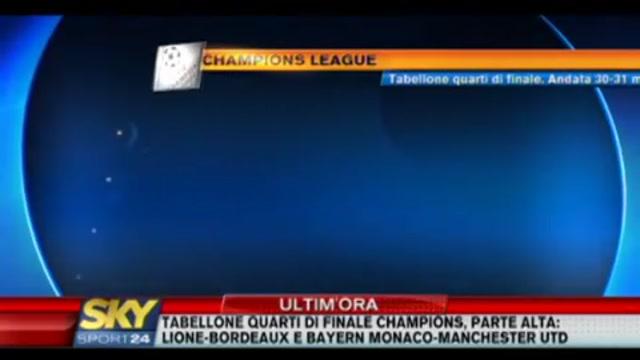Champions League, i sorteggi dei quarti di finale