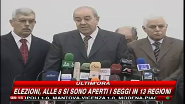 Iraq, Iyad Allawi si dichiara pronto ad aprire negoziati con tutte le forze politiche