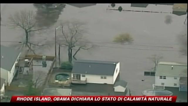 Rhode Island, Obama dichiara lo stato di calamità naturale