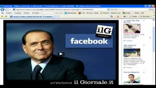 Esordio di Berlusconi su Facebook attraverso sito Il Giornale