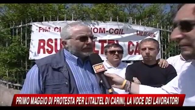 Primo maggio di protesta per i lavoratori Italtel di Carini