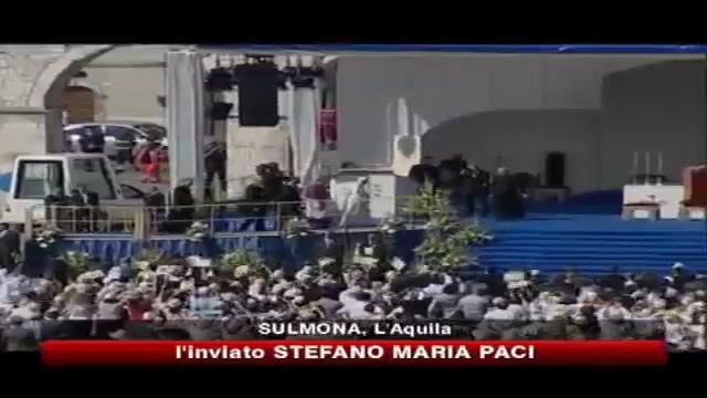 Il Papa a Sulmona- la mia preghiera ai terremotati