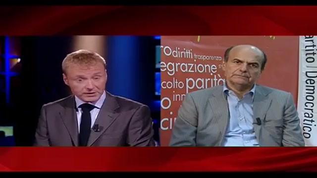 4 - Bersani a Sky TG24, intercettazioni: limite d'indagine sui reati