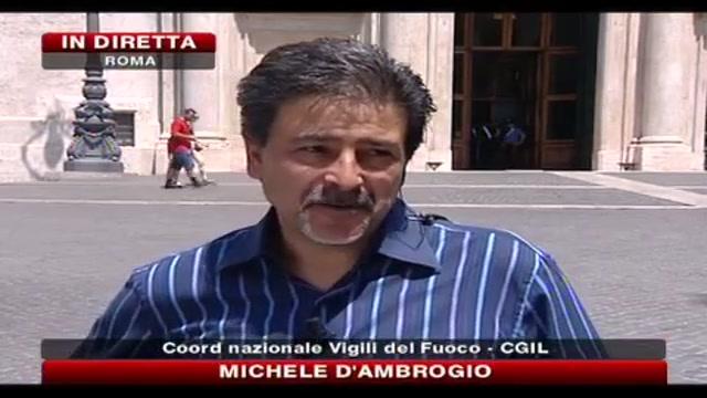 Manovra, sciopero vigili del fuoco, parla Michele D'Ambrogio