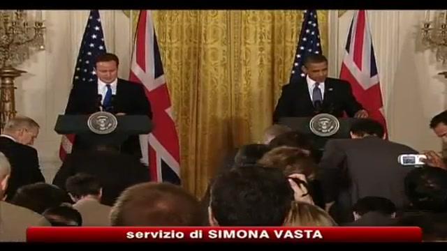 Cameron da Obama, Lockerbie e marea nera i temi scottanti