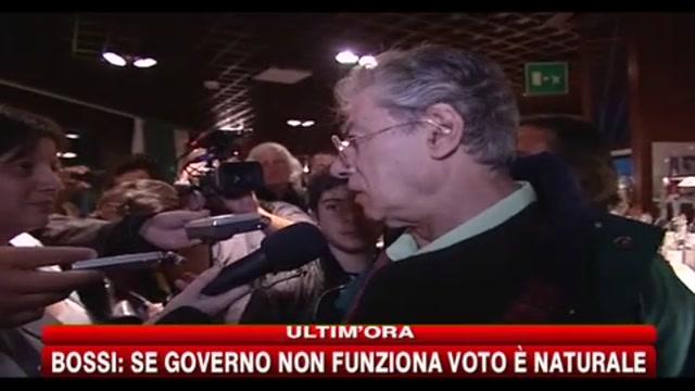 Bossi: se governo non funziona il voto è naturale