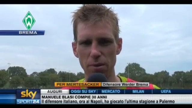 Champions League: mercoledì Samp-Werder Brema