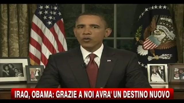 Iraq, Obama: grazie a noi avrà un destino nuovo