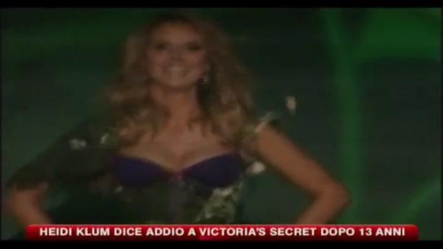 Heidi Klum dice addio a Victoria's secret dopo 13 anni