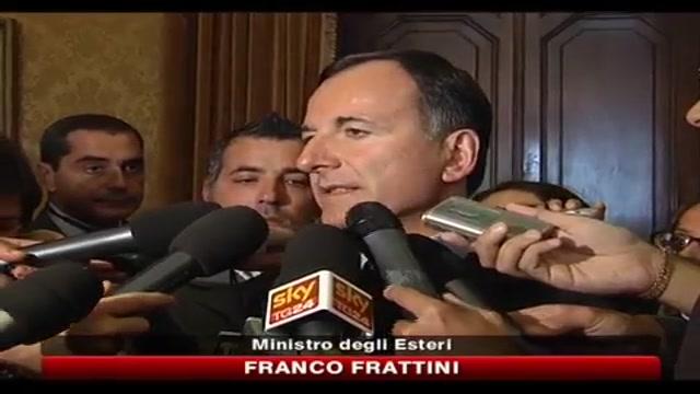 Terrorismo, Frattini: nessun allarme particolare per Italia