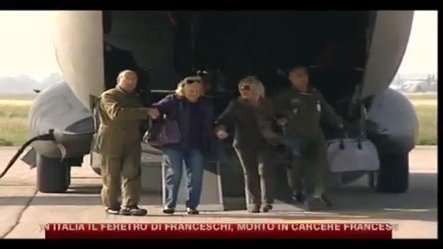 In Italia il feretro di Franceschi, morto in carcere francese