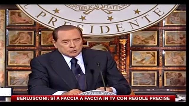 Confronto TV, Berlusconi: sì con regole precise