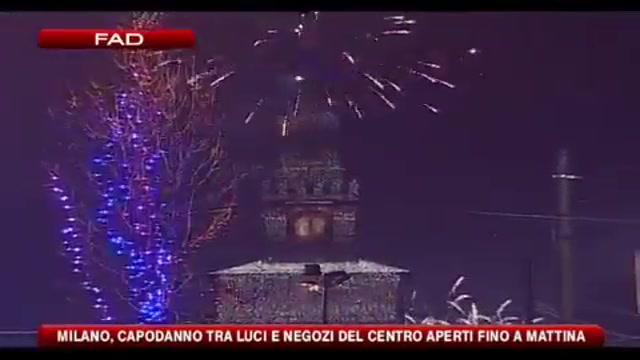 Milano, Capodanno tra luci e negozi del centro aperti fino a mattina