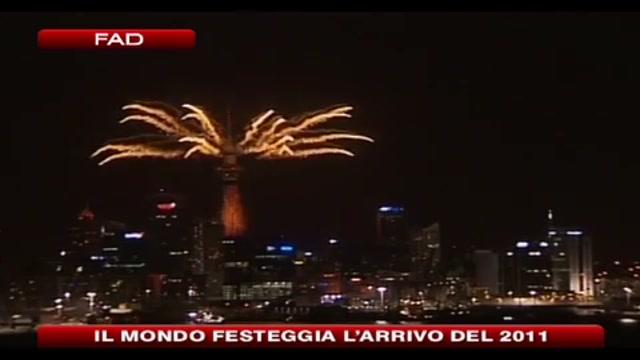 Il mondo festeggia l'arrivo del 2011