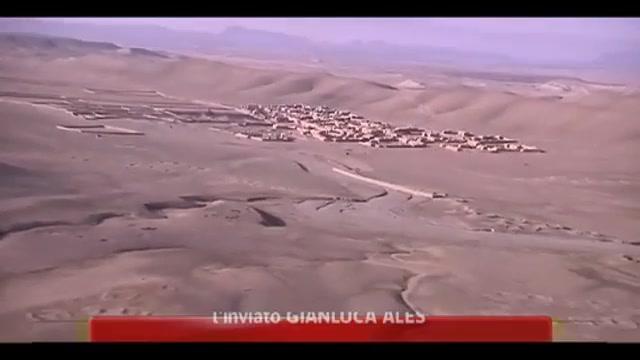 Scenari afghani: il luogo dell'agguato visto dall'elicottero