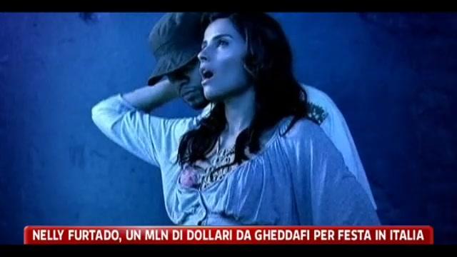 Nelly Furtado, un milione di dollari da Gheddafi per una festa in Italia