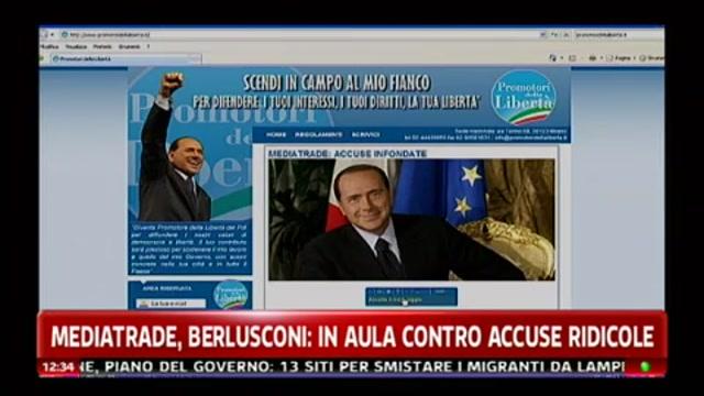 Mediatrade, Berlusconi: in aula contro accuse ridicole