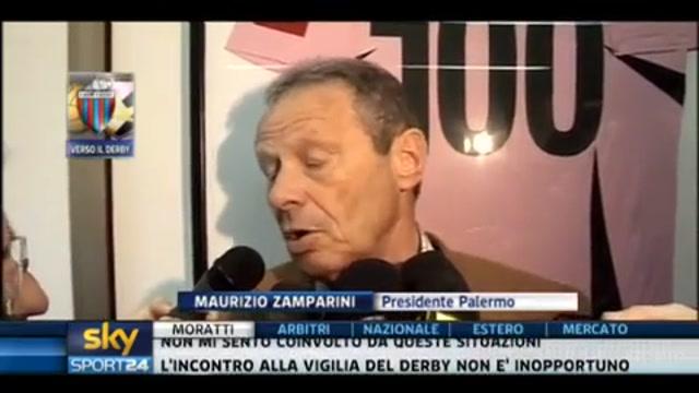 Derby siciliano, Zamparini scommette