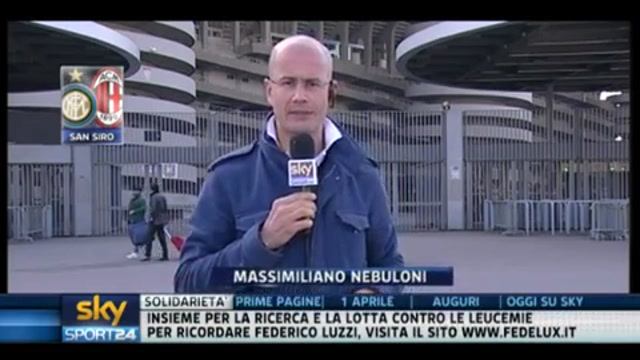 Milan e Inter a San Siro per l'allenamento pre-derby