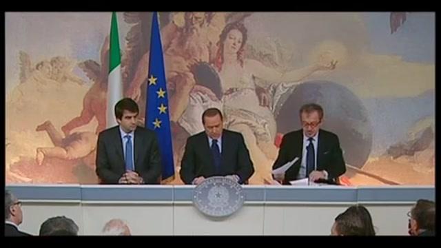 Conferenza stampa Palazzo Chigi