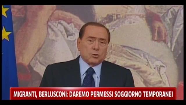 Migranti, Berlusconi: daremo permessi soggiorno temporanei