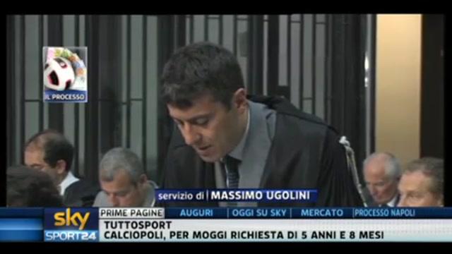 Calciopoli, il pm chiede 5 anni e 8 pesi per Moggi