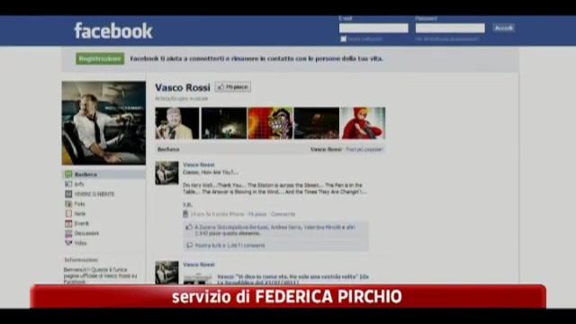 Facebook, Vasco rossi saluta i suoi fan sul web